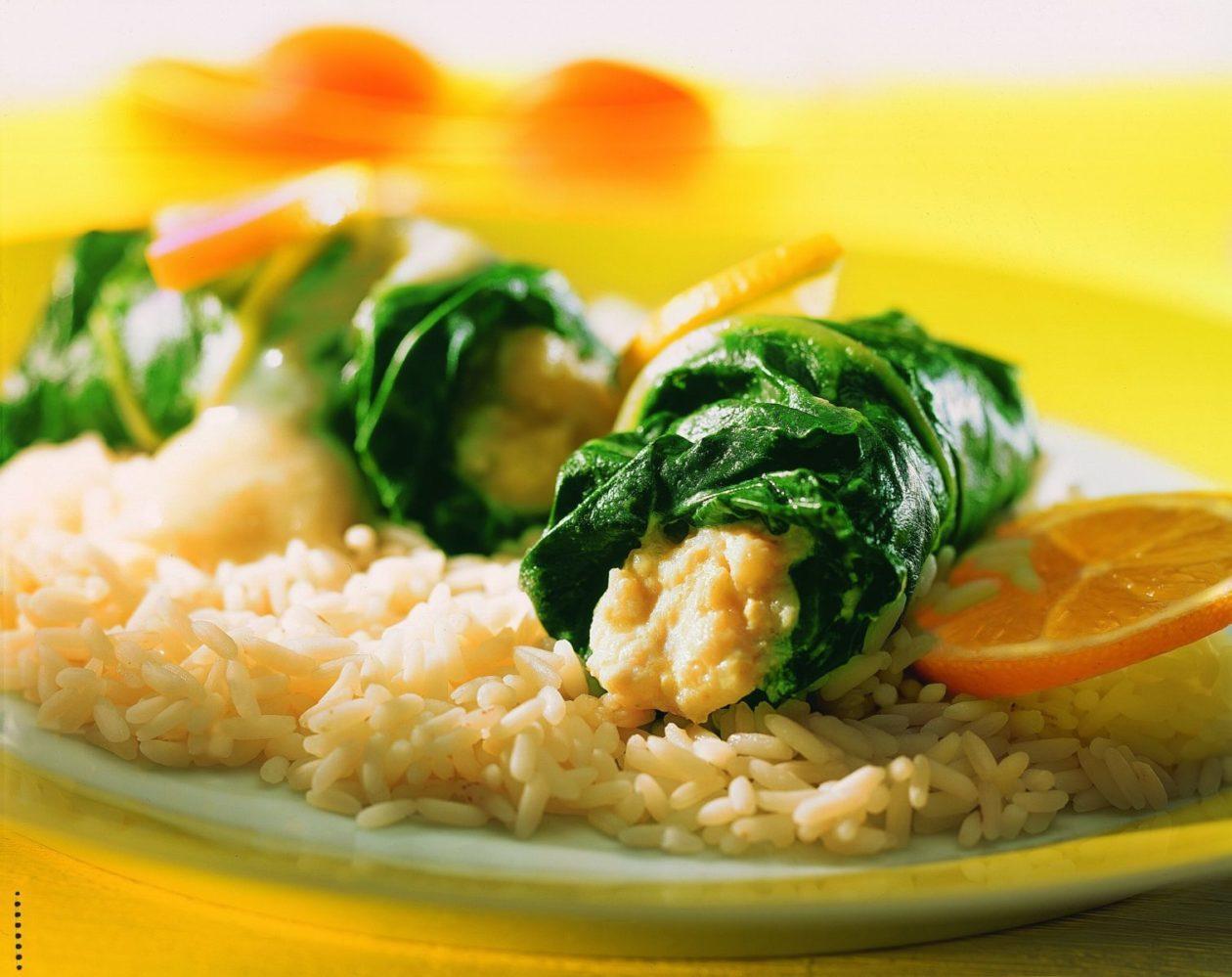Fischröllchen in Mangold - BCM Diät Rezepte.de