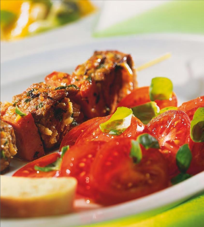 Fleischspieße mit Salat - BCM Diät Rezepte.de