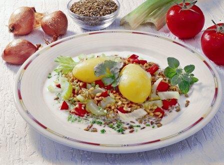 Pellkartoffeln mit Grünkern - BCM Diät Rezepte.de
