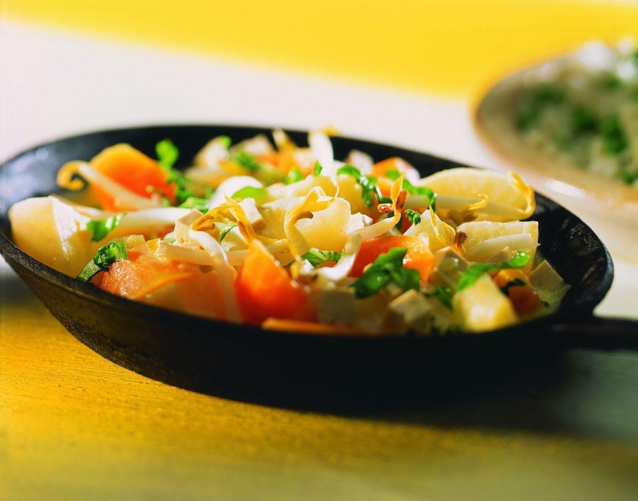 ruebchenpfanne mit tofu