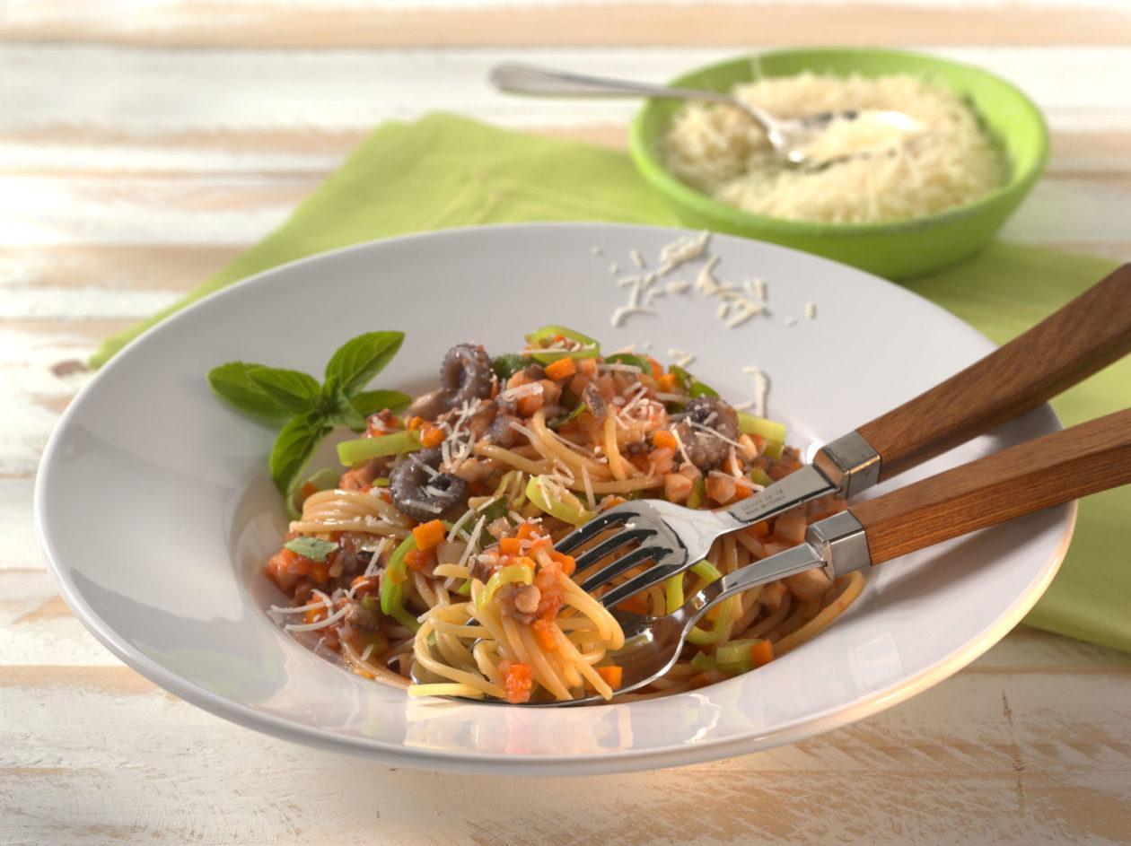 spaghetti mit meeresbolognese