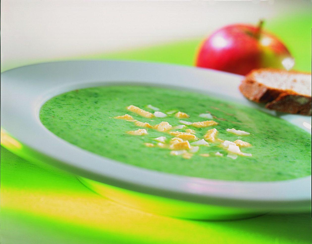 spinat buttermilch suppe