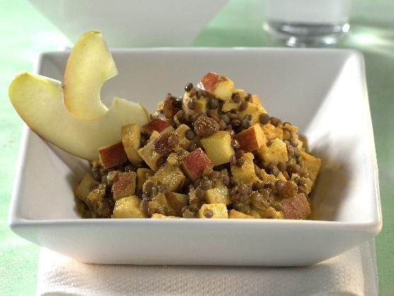 Tofu-Curry mit Linsen und Bananen - BCM Diät Rezepte.de