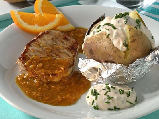 134 Schweineruecken orangensauce