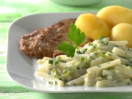 Kalbsschnitzel mit Kohlrabigemüse - BCM Diät Rezepte.de