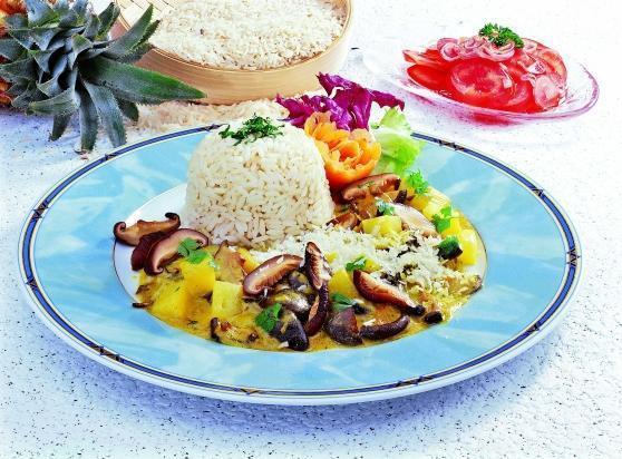 Reisteller mit Shii-Take-Pilzen - BCM Diät Rezepte.de