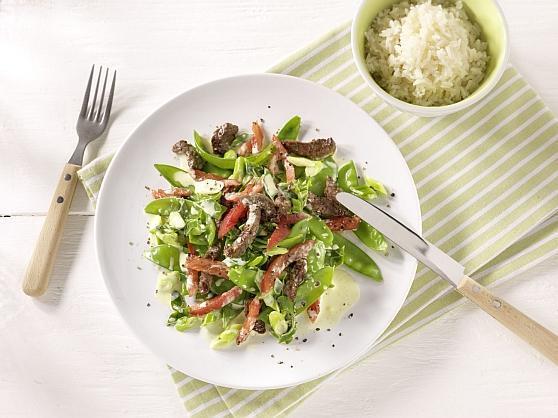 Leichte Sommerpfanne mit Rindfleisch - BCM Diät Rezepte.de