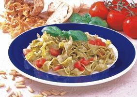 Bandnudeln mit Pesto und Tomaten - BCM Diät Rezepte.de