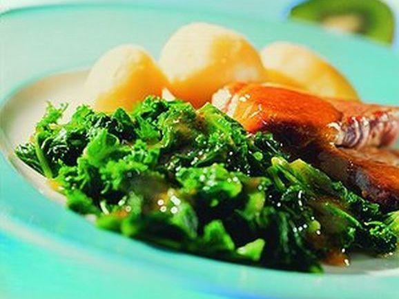 Grünkohl mit Orangensauce und Schweinefilet - BCM Diät Rezepte.de