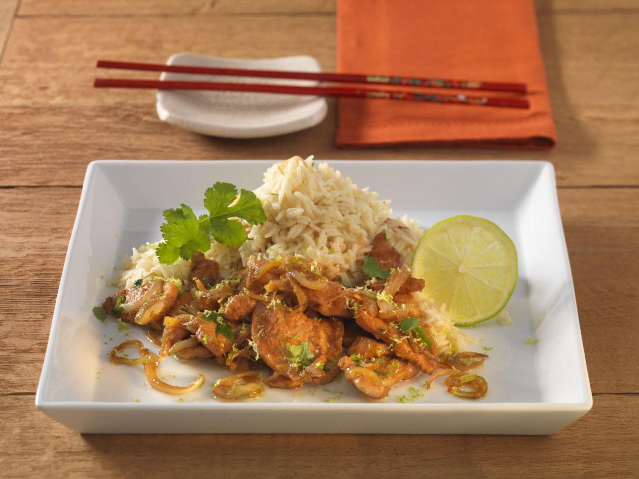 Ingwer-Limonen-Huhn mit Knoblauchreis - BCM Diät Rezepte.de