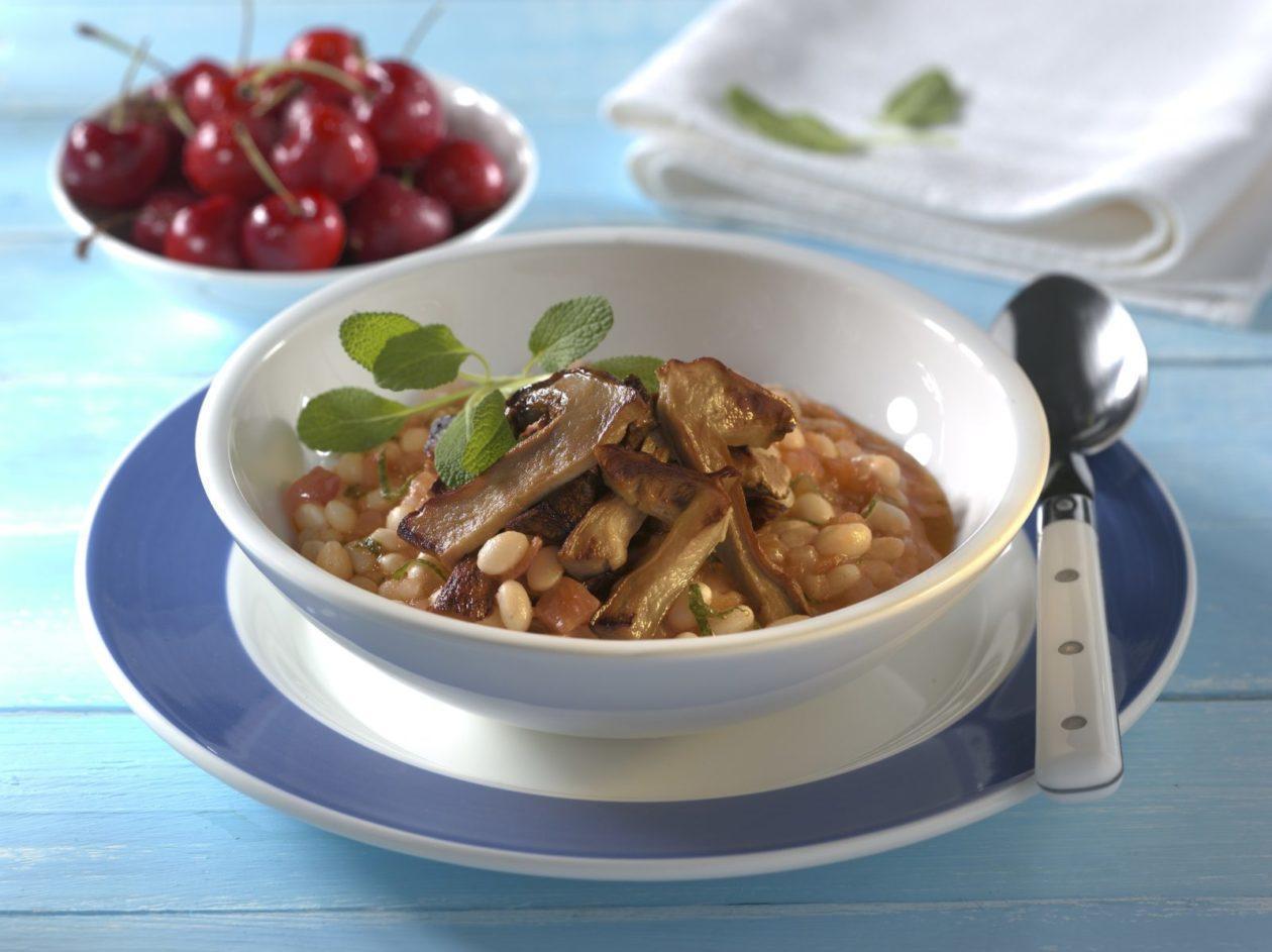 Toskanischer Bohneneintopf mit Steinpilzen - BCM Diät Rezepte.de