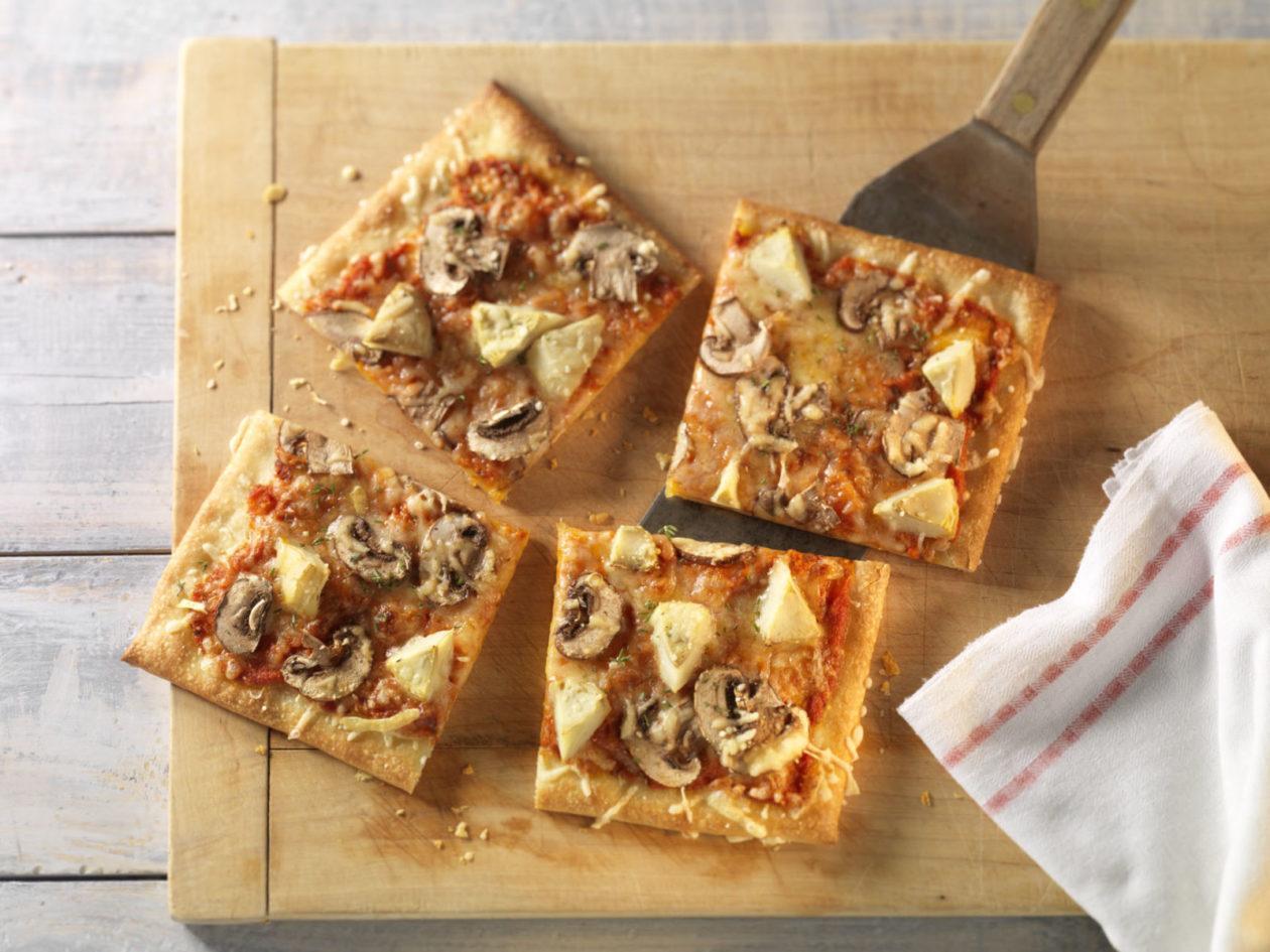 Prächtig Vegetarische Pizza mit Artischocken und Champignons – Precon Diät #IL_86