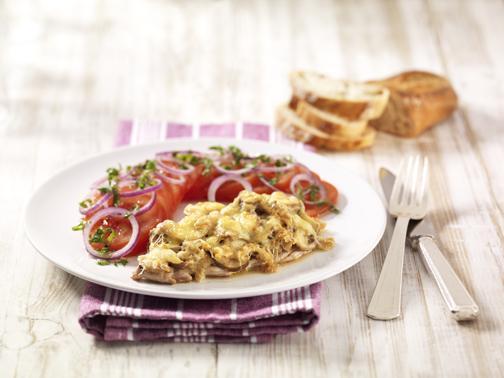 Überbackene Champignonschnitzel - BCM Diät Rezepte.de