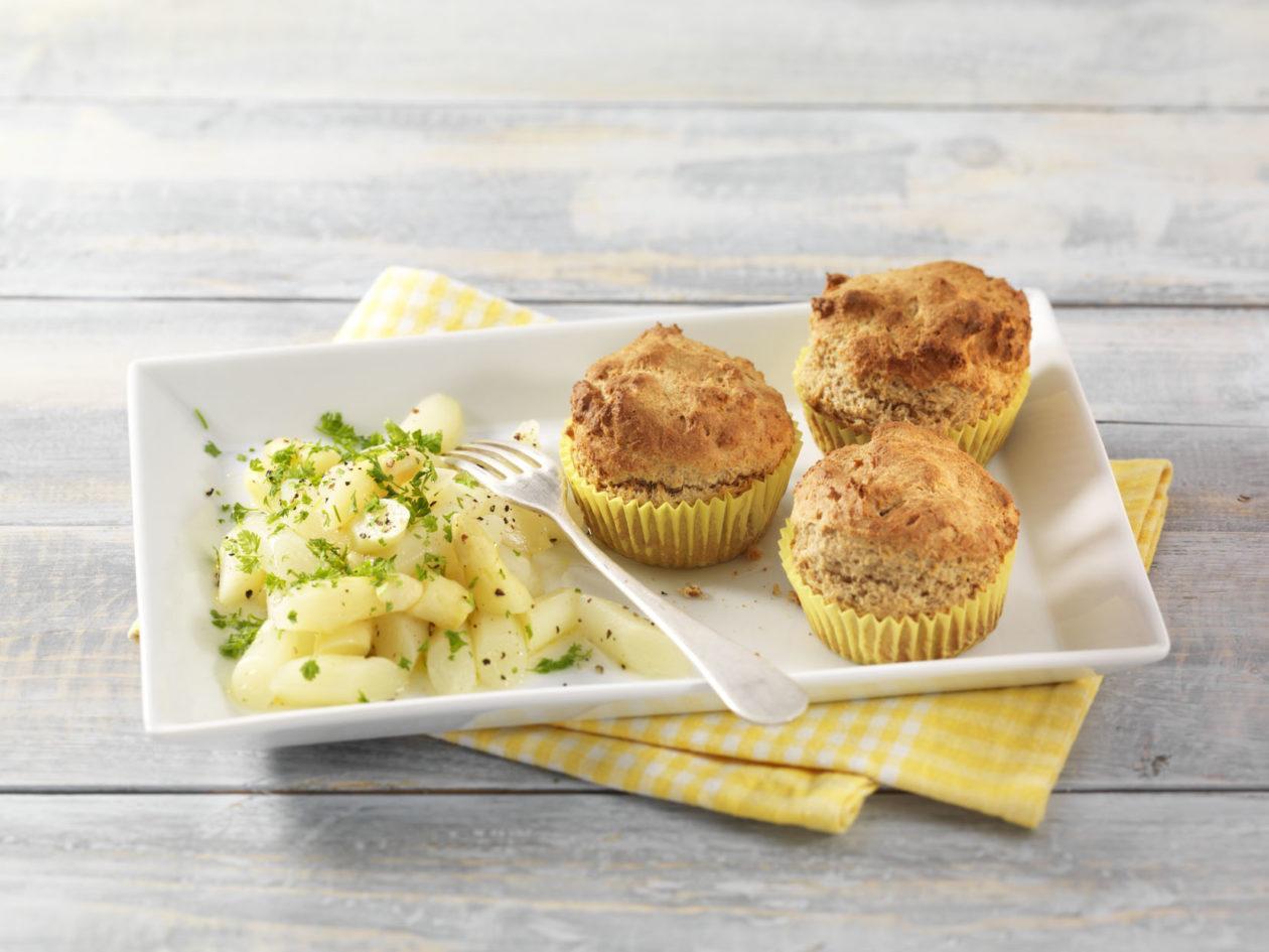 Parmesan Muffins mit Spargelsalat 0001