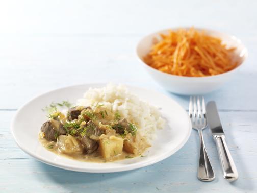 Rindfeischragout mit Senfgurken - BCM Diät Rezepte.de