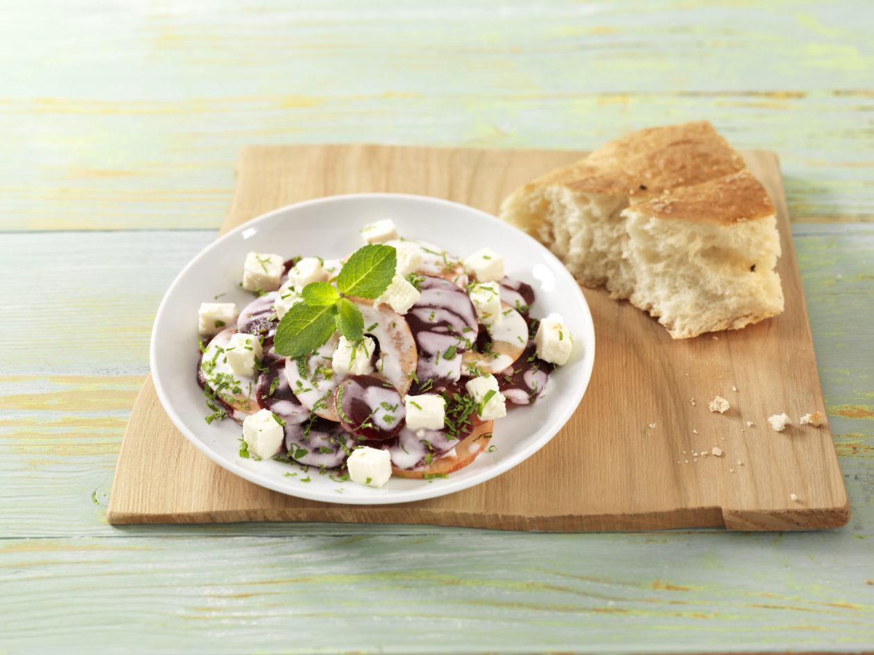 Rote Bete Salat mit Schafskaese 0003