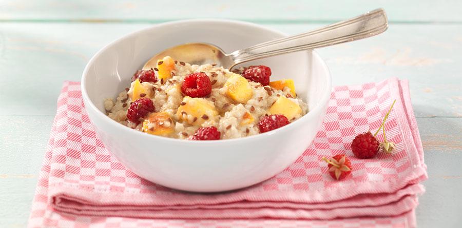 Himbeeren-Nektarinen-Porridge